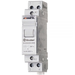 Finder 16A 2 Pole 2NO Modular Step Relay 20.22.8.024.0000