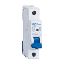Chint 63A 1 Pole Type C 6KA MCB
