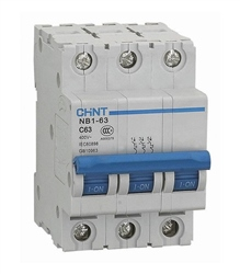Chint 6A 3 Pole Type C 6KA MCB