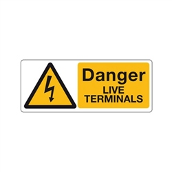 Klauke Danger Live Terminals Label