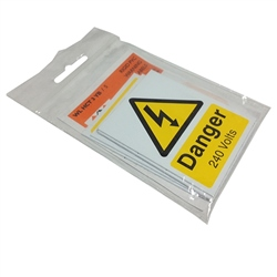 SES Danger 240 Volts Label 65x50