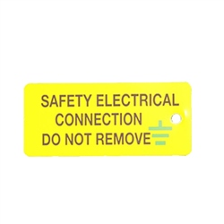 SES Safety Earth Connection Label