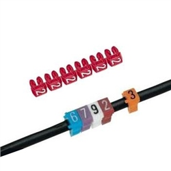 SES PTV+45 Colour Coded Cable Marker 2 RED Quantity 100