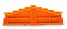Wago 727-217 4-level end plate, plain; 7.62mm thick; orange
