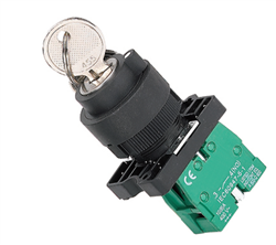 ETEK 3 POSITION KEY SWITCH WITH 2 NO CONTACTS