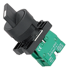 ETEK 3 POSITION SELECTOR SWITCH WITH 2 NO CONTACTS