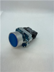 ETEK PUSHBUTTON BLUE COMPLETE WITH NO CONTACT