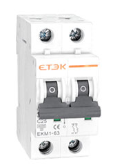 ETEK NBB 250 ETEK DOUBLE POLE 50A MCB TYPE B