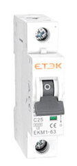 ETEK NBD 163 ETEK SINGLE POLE 63A MCB TYPE D