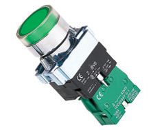 ETEK ETEK ILLUMINATED PUSHBUTTON GREEN COMPLETE WITH NO CONTACT