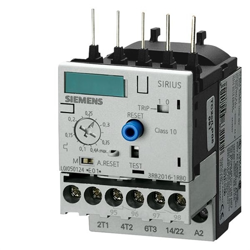 Siemens 3RB3016-1PB0 Overload Relay 1...4 A S00