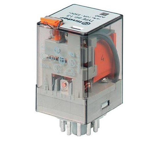 Finder 230VAC 10A 8 pin 2 Pole Relay 60.12.8.230.0054
