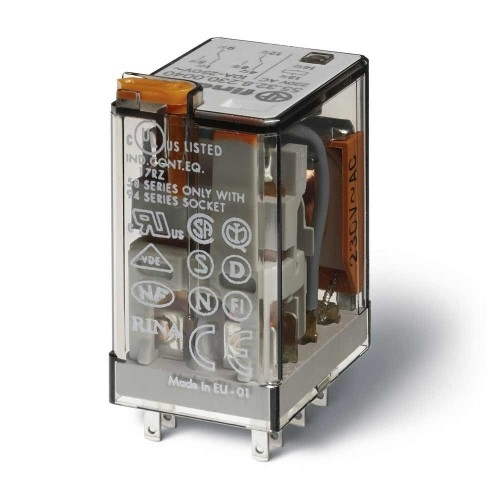 Finder 7A 4 Pole 230VAC Changeover Relay 55.34.8.230.0054