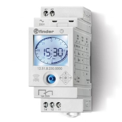 Finder 12.71.8.230.0000 Electronic Digital Weekly Time Switch 1CO