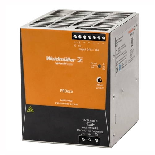 Weidmuller 469510000 ECO 480W 20A 24V
