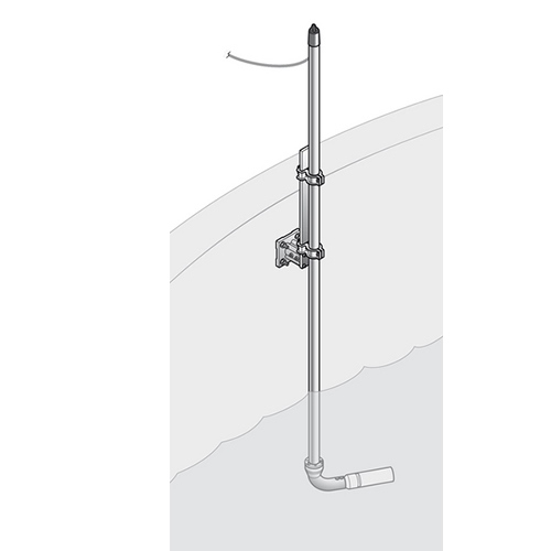 Hach Lange Stainless Steel pole mounting Kit SOLITAX and TSS, 10 cm