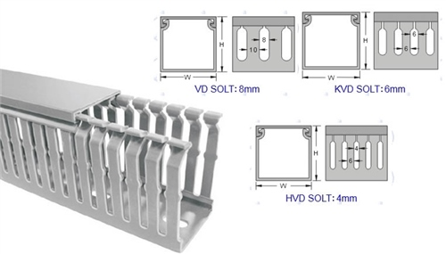 KSS 4mm Slotted Wiring Duct 120 x 80mm