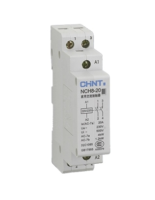 Chint NCH8-20 Modular AC Contactor 2 Pole 20A 2NO, 230V AC Coil