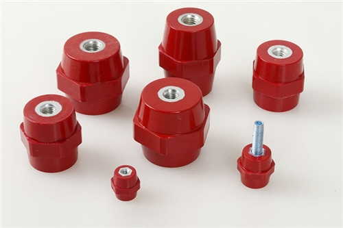 PES Steel Insert Stand off Insulator 50 mm x 36 mm x M 8 PSS503608  - Click to view a larger image
