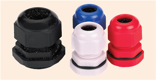 ETEK Nylon Cable Gland BLACK 25MM (with nut+rubber ring)  - Click to view a larger image