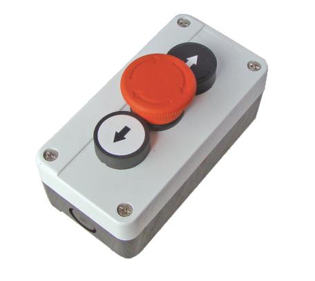 ETEK Control Box, Pushbutton Box, up, down, em stop twist release