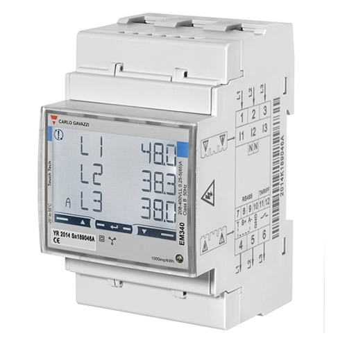 Carlo Gavazzi Energy Management Mid Energy Analyzer EM340DINAV23XO1PFB 1